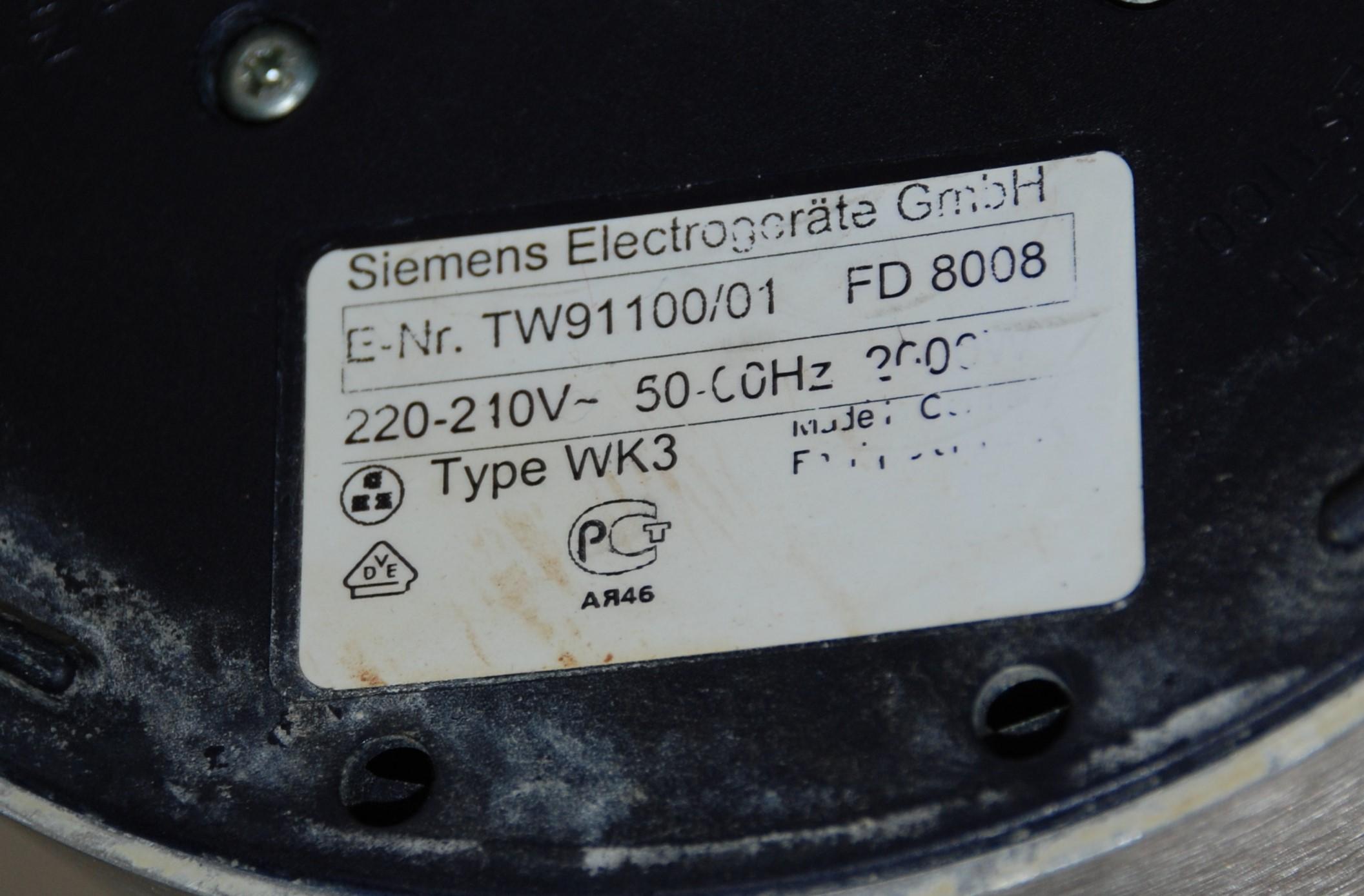 siemens wasserkocher porsche design tw9110000 fd8008  ~ Wasserkocher Porsche Design